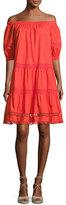 Kate Spade Cotton Poplin Off-The-Shoulder Dress