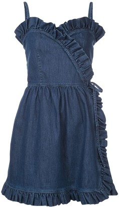 Stella McCartney Denim Sheer Panel Mini Dress