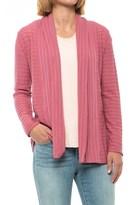 Ibex Shadow Stripe Cardigan Sweater - Merino Wool Blend (For Women)