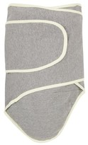 Miracle Blanket Solid Print with Trim Baby Swaddle - Cloud Grey/Pastel Yellow