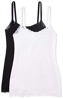 Iris & Lilly Amazon Brand Women's Body Natural Lace Trim Vest