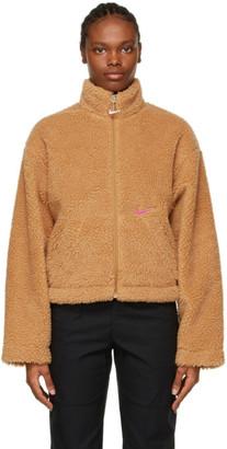 Nike Tan Sherpa Sportswear Jacket