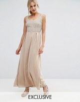 Maya Tonal Embellished Maxi Dress