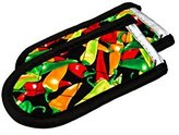 Lodge 2HHMC2 Hot Handle Holders/Mitts, Multi-color Peppers, 2-Pack