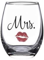"Lillian Rose Lillian RoseTM ""Mrs."" Lips Stemless Wine Glass"