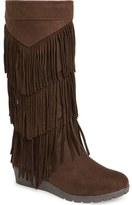 Kenneth Cole New York 'Simona' Fringe Boot (Little Kid & Big Kid)