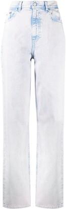 IRO Dahio acid wash straight leg jeans