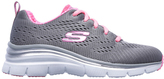 Skechers Fashion Fit Statement Piece Grey/Pink Sneaker
