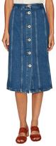 MiH Jeans Simone Denim Midi Skirt