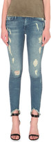 True Religion Casey distressed stepped-hem skinny mid-rise jeans