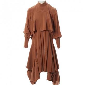 Chloé Brown Silk Dresses