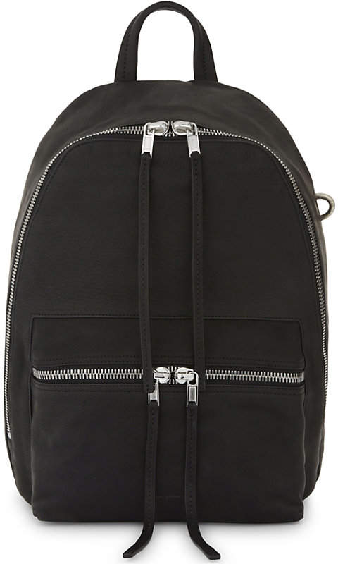 Rick Owens Glitter leather backpack