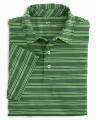 Southern Tide Tonal Striped Performance Polo Shirt