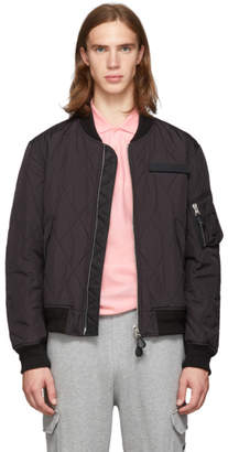 Burberry Black Quilted Sutton Bomber Jacket