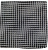 The Tie Bar Light Grey White Wash Houndstooth Pocket Square