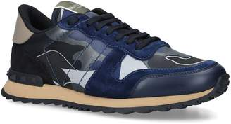 Valentino Garavani Leather Camouflage Sneakers