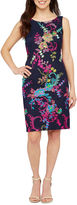 Studio 1 Sleeveless Embroidered Sheath Dress