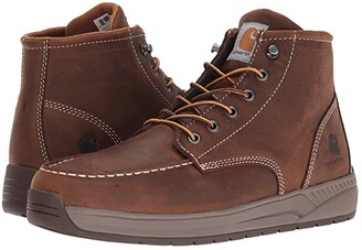 Carhartt 4 Lightweight Wedge Boot (Brown Oil Tanned Leather) Men's Work Boots