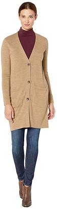 Pendleton Merino Long Cardigan (Camel Heather) Women's Sweater