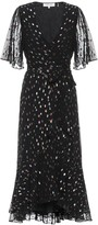 Diane von Furstenberg Berdina metallic wrap dress