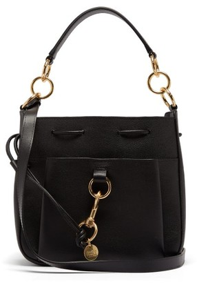 See by Chloe Tony Medium Leather Bucket Bag - Black