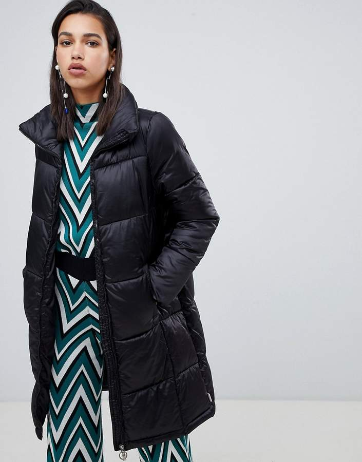 Vero Moda Longline Padded Jacket With Ring Pull