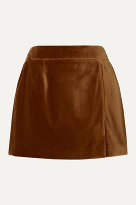 Bella Freud Wool-velvet Mini Skirt