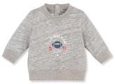 Petit Bateau Baby boy mottled jersey sweatshirt with motif
