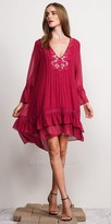 Adelyn Rae High-Low Bell Sleeve Fontain Day Dress