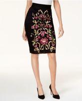 Thalia Sodi Embroidered Pencil Skirt, Created for Macy's
