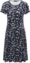 M&Co Floral bird print pocket day dress