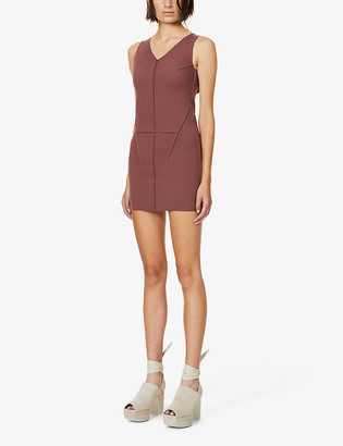 Rick Owens Sleeveless V-neck stretch-jersey mini dress