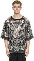 Dolce & Gabbana Mary With Child Printed Linen T-Shirt
