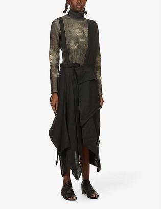Nomad Goba Asymmetric linen skirt