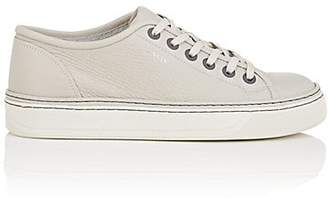 Lanvin Men's Grained Leather Sneakers - Light Gray