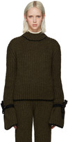 J.W.Anderson Green Cinched Sleeve Sweater