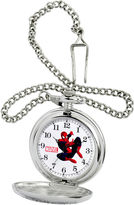 Marvel Mens Spiderman Silver-Tone Pocket Watch