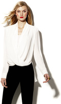 Vince Camuto Wrap Front Shirt Tail Blouse