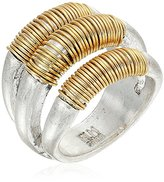 "Robert Lee Morris It's Ringing"" Wire Wrapped Sculptural Multi-Row Ring, Size 7"