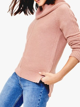 Oasis Lucy Ottoman Knit Jumper, Pale Pink