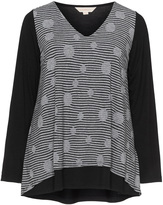 Isolde Roth Plus Size Long sleeve printed top
