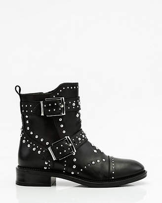 Le Château Studded Leather Biker Boot