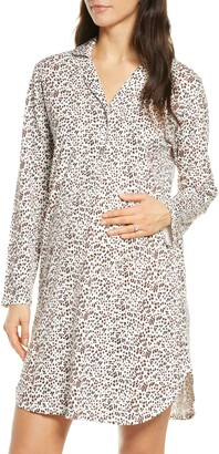 Belabumbum Luxe Animal Print Maternity/Nursing Nightshirt