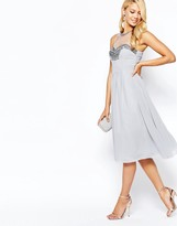 Little Mistress Prom Dress In Chiffon With Embellished Bust