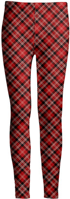 Lily Women's Leggings RED - Red & Black Plaid Leggings - Women & Plus