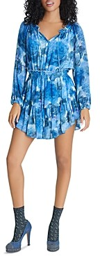LoveShackFancy Silk Printed Popover Dress