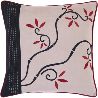 Surya Carpet Smithsonian : Decorative Horsham 18-inch Poly or Feather Down Filled Throw Pillow