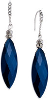 INC International Concepts Silver-Tone Midnight Blue Diamond Drop Earrings, Only at Macy's