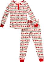 Dollie & Me Red & White Fair Isle Pajama Set - Women