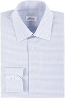 Brioni Men's Micro-Checked Poplin Shirt-LIGHT PURPLE
